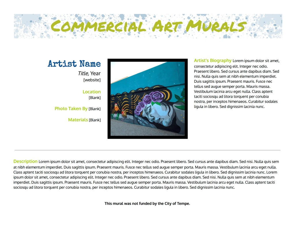 Commercial Art Murals Version 2