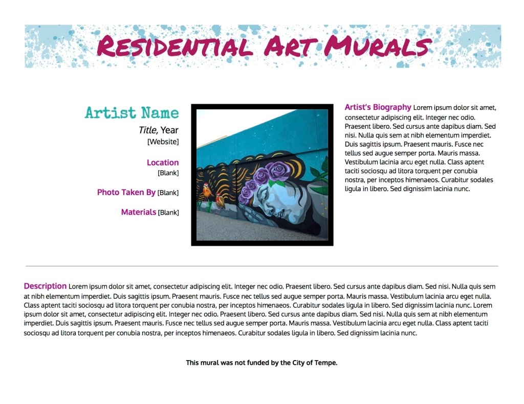 Residential Art Murals Version 2