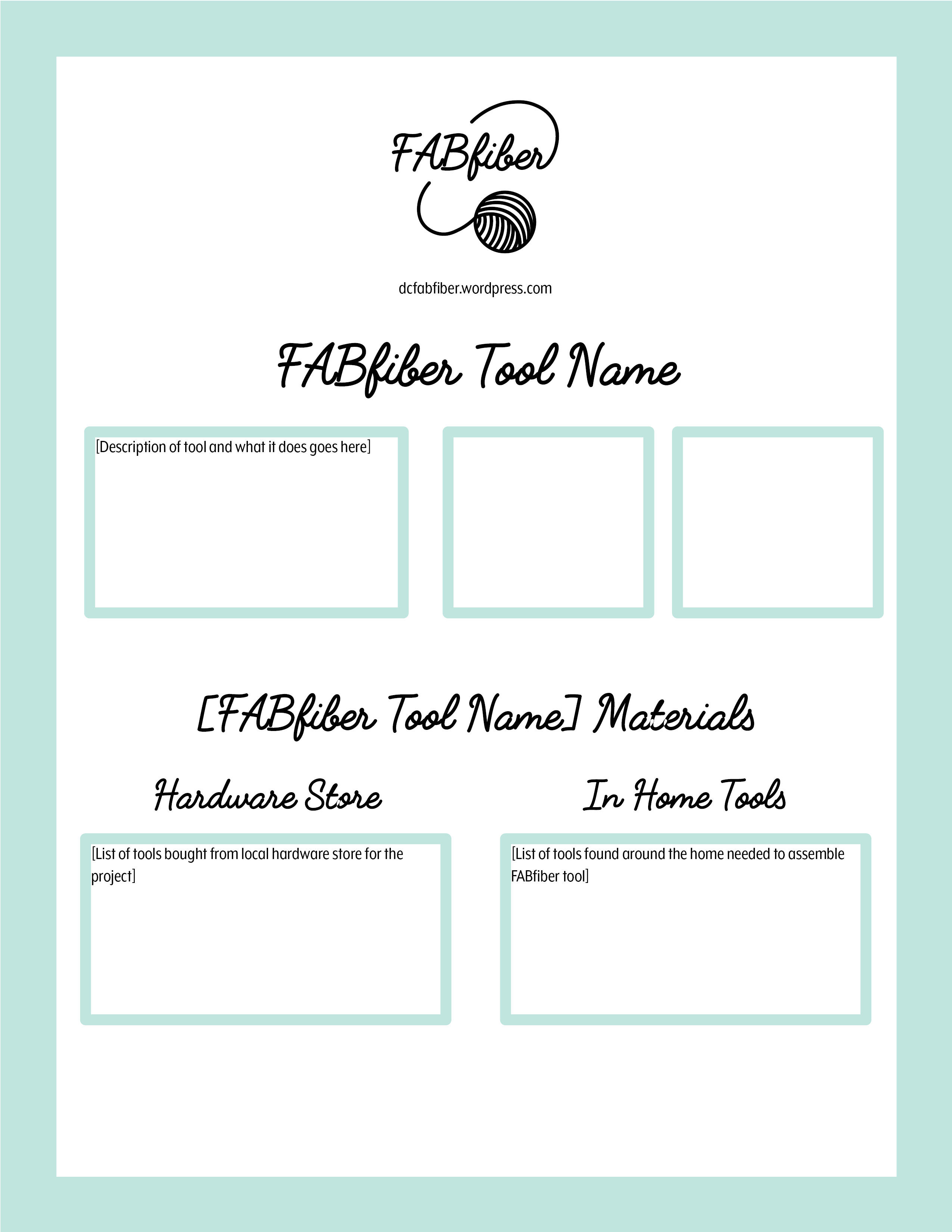 instruction booklet template – Instruction Template